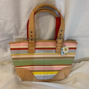 Coach Fabric & Leather Bucket Bag
